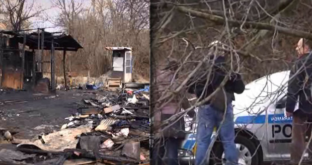 Při hašení požáru chatky v Brně-Černovicích hasiči našli mrtvého muže.