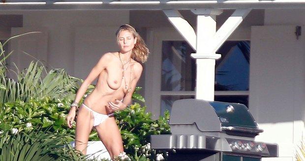 Heidi Klum na dovolené odhodila zábrany.