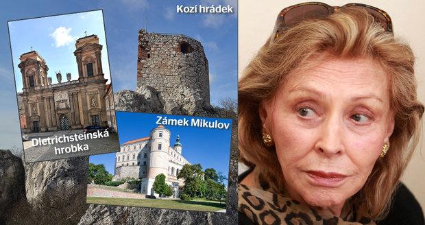 Princezna Mercedes Dietrichsteinová chtěla vrátit do rodinného majetku Zámek Mikulov, Kozí hrádek, několik dalších domů v Mikulově a zhruba 200 pozemků. Naděje jí zůstala jen u rodinné hrobky.