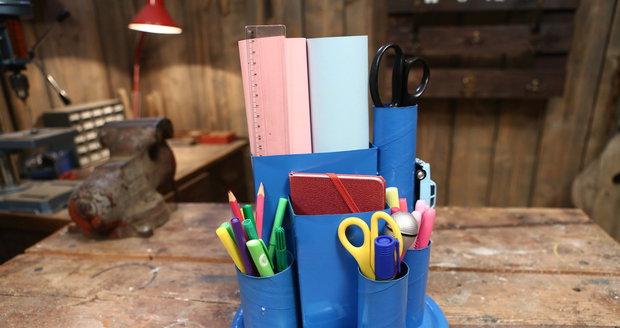 Vyrobte si organizér na psací stůl