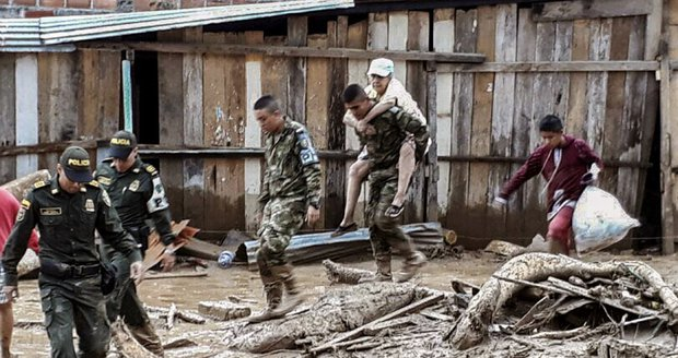 Tragická bilance mohutného sesuvu půdy: Nejméně 127 mrtvých v Kolumbii