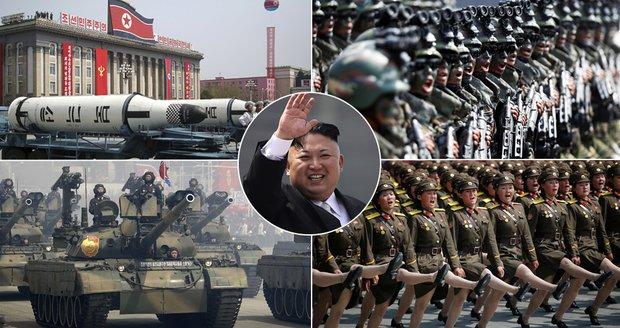 KLDR slaví 105. narozeniny Kim Ir-sena. Jeho vnuk se chlubí novými raketami