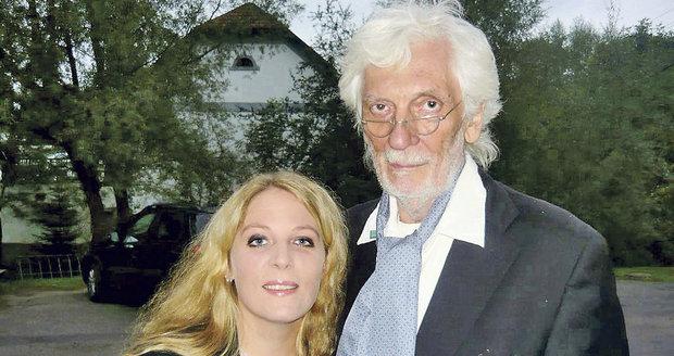 Petra Hapková s otcem