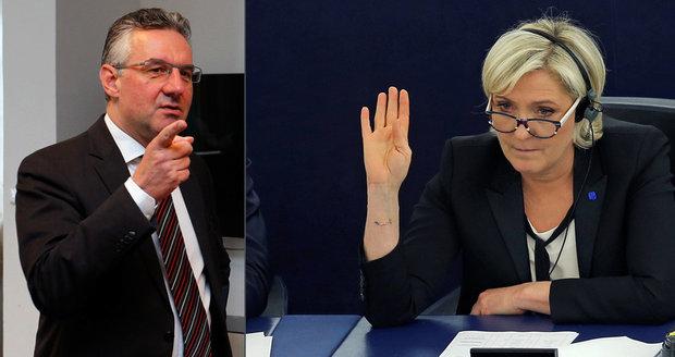 Zahradil o setkání s Le Penovou: Vede konspirační řeči a fandí protekci