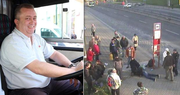 Statečný řidič autobusu! Pomohl zadržet Ukrajince, který zbil a okradl seniora
