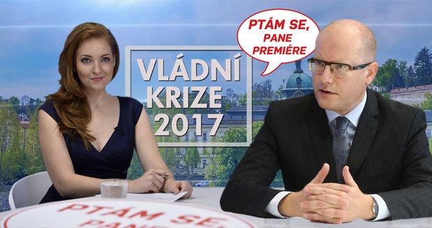 """""""Kat vlády"""" Sobotka hostem Blesku: Zeptejte se na to, co vás zajímá"""