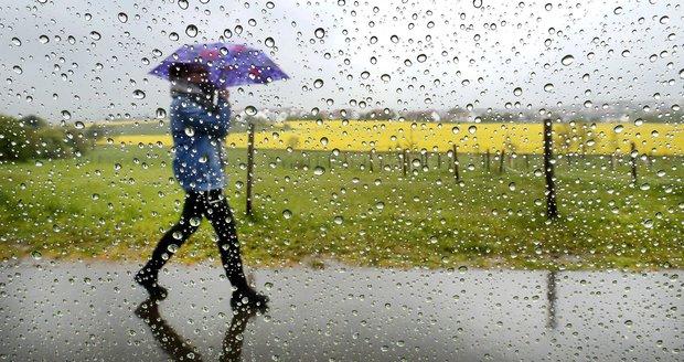 Na jihu Česka hrozí vydatné deště. (ilustrační foto)