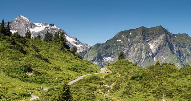Bregenzský les v rakouském Vorarlbersku