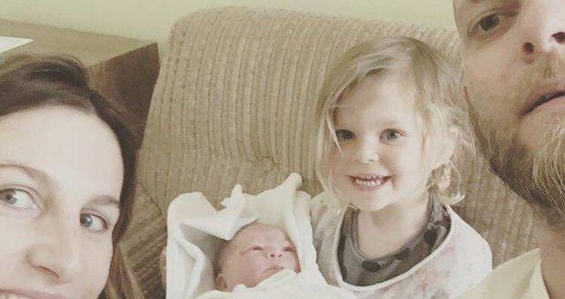 Klára Vytisková porodila druhou holčičku.