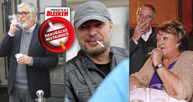 Od středy si v restauracích nezapálíte! Co na to slavní čeští kuřáci Bohdalová, Bartoška a další?