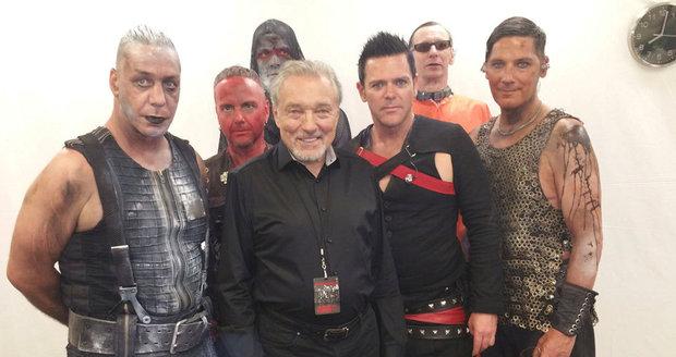 Gott si před dvěma lety vychutnal metalový koncert Rammsteinů. Před ním se s kapelou setkal v zákulisí.