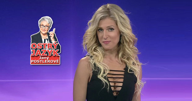 Moderátorka Lucie Šprinclová neumí chodit před kamerou.