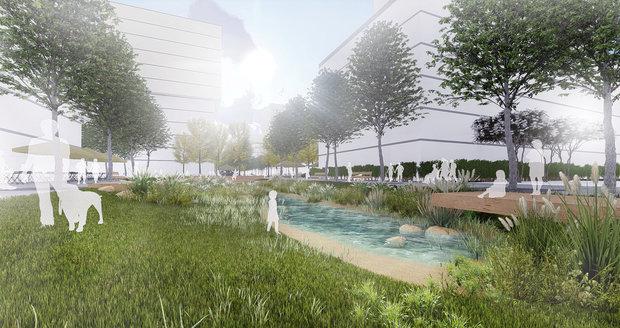 Takto by do budoucna mohla podle různých ateliérů vypadat severní část Nákladového nádraží Žižkov.