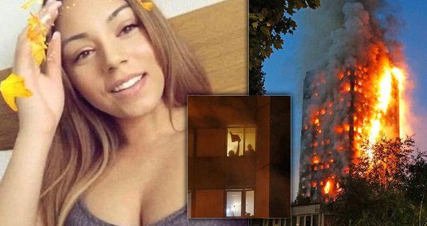 »Já tady zemřu!« Mladá dívka přenášela živě úprk z hořící budovy v Londýně