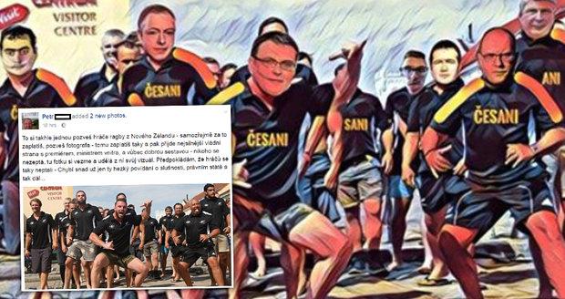 """ČSSD jako hráči rugby: Fotku bez dovolení """"obšlehli"""" a baví sociální sítě"""