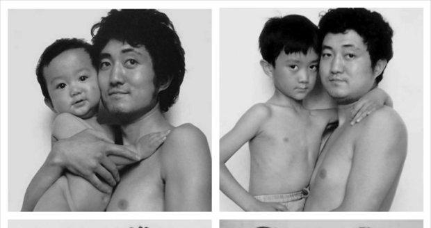 Koloběh života. Muž se fotil se synem dlouhých 26 let. Podívejte se