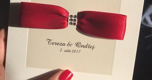 Tereza B. řekne své ano Ondřejovi 2. září letošního roku. Bude přitom na sobě mít doslova pohádkové šaty od Blanky Matragi.