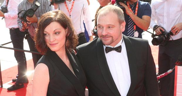 Marek Taclík s partnerkou Pavlou na festivale v Karlových Varech v roce 2016.