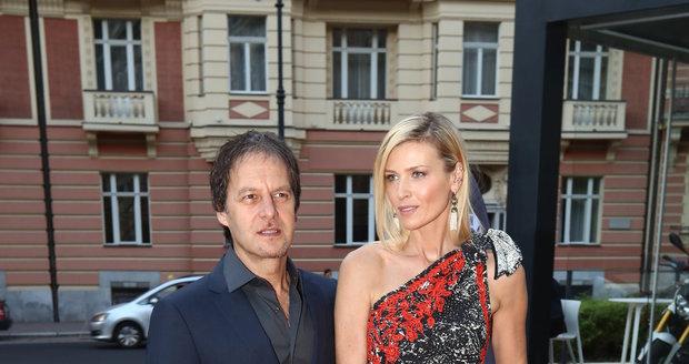 Daniela Peštová s partnerem Paľem Haberou