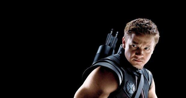 Jeremy Renner jako Hawkeye z Avengers