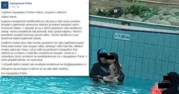 Oblečená muslimka v pražském akvaparku rozzuřila část návštěvníků. V Čestlicích se brání.