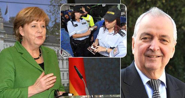 Expert od Merkelové kárá Česko kvůli hraničním (ne)kontrolám. Chovanec kontruje