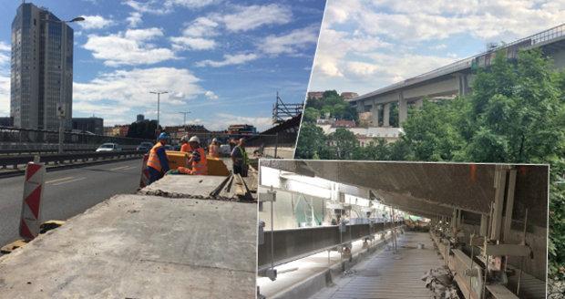 Práce na Nuselském mostě probíhají od roku 2012, v listopadu mají skončit.