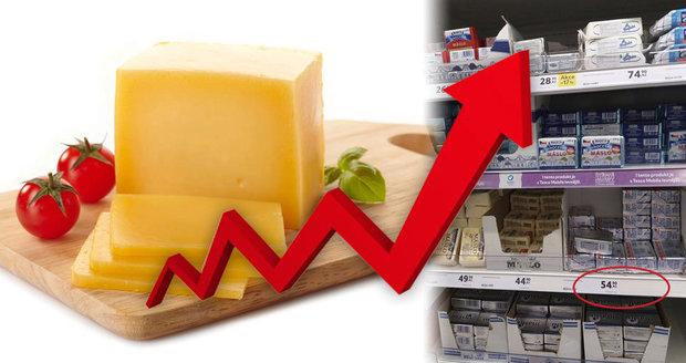 Máslo a eidam raketově zdražily. A co vejce, mléčné výrobky a další zboží?