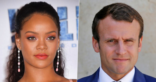 Kritici se smějí, Macron si zve do paláce Rihannu. Mají řešit chudé děti