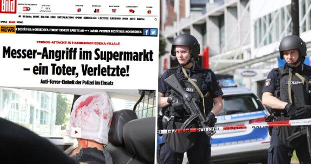 V supermarketu zaútočil muž s nožem: Jeden mrtvý a řada zraněných v Hamburku