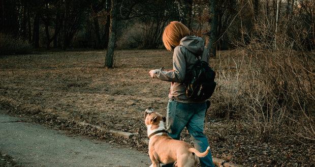 Pejskařka na vycházce se psem (Ilustrační foto)