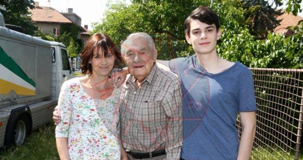 Natáčení filmu Děti samotářů: Klára Pollertová, Ladislav Trojan a Josef Trojan
