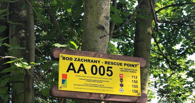 Město do pražských lesů a lesoparků rozmístilo takzvané body záchrany.