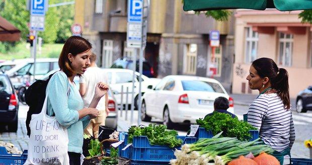 Na trzích na Heřmaňáku se s plastovými sáčky nesetkáte. Tady se snaží být co nejvíce eko.