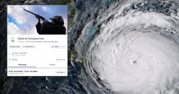 Tisíce Američanů chtějí střílet na hurikán Irma. Vtípek se zvrhl a zaplavil sociální sítě
