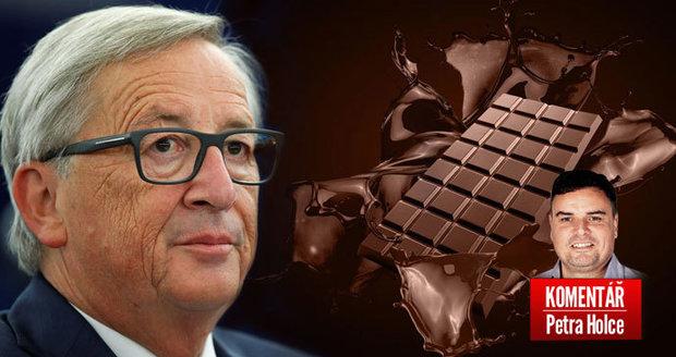 """Komentář: Juncker slíbil Čechům víc kakaa v čokoládě. """"Západně"""" se ale nenajíme"""