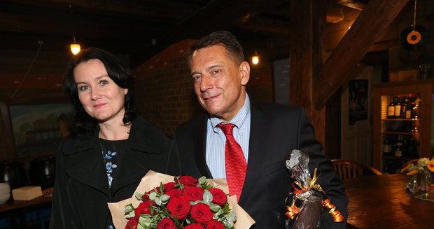 Jiří Paroubek s novou partnerkou