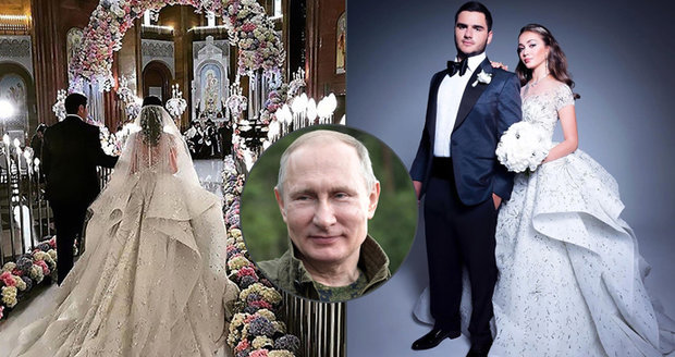 Miliardářská svatba Putinova známého: Dorazil i prezident, dort připomínal chrám