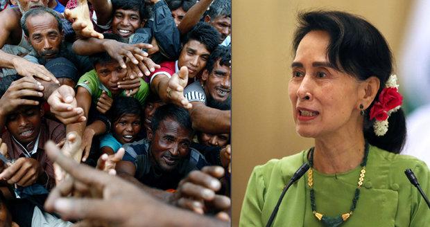 Exodus muslimů: Nositelka Nobelovky Su Ťij prolomila mlčení k uprchlické krizi Rohingů
