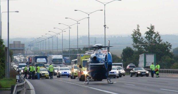 Nehoda na dálnici D1.