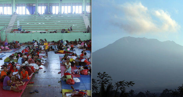Kvůli hrozbě výbuchu sopky evakuovali i Čechy. Na Bali prchlo již 35 tisíc lidí