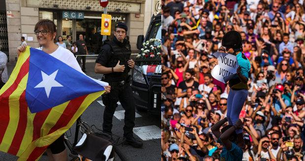 Madrid chce za každou cenu zastavit katalánské referendum o odtržení. Povolal policii