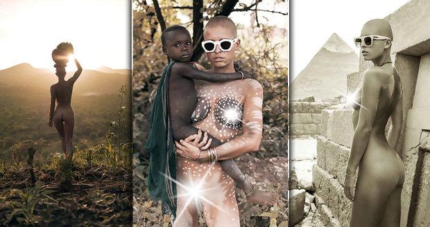 Belgická modelka Marisa Papen žila týden s etiopským kmenem Surma.