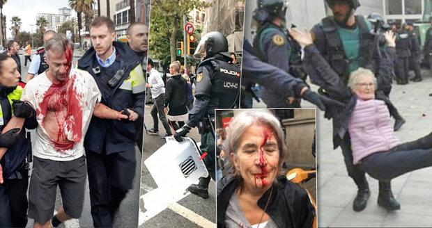 Výsledek obrázku pro foto zásah policie katalánsko