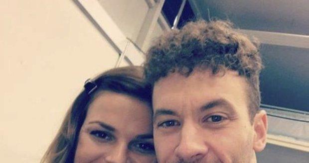 Petra Vajdová s tanečním partnerem v Let's Dance