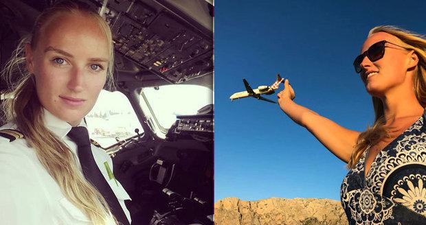 Krásná nizozemská pilotka Lindy Mariëlle Kats