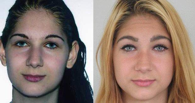 Dvě podoby šestnáctileté Pavlíny Krejsové, která se z vycházky nevrátila do výchovného ústavu. Neviděli jste ji?