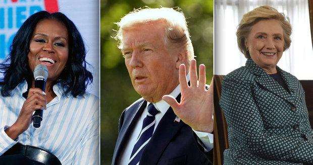 Sok Trumpa pro rok 2020: Vyzve ho Michelle Obamová nebo Hillary Clintonová?