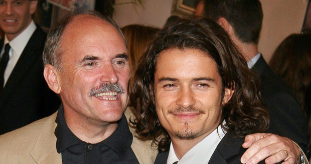 Orlando Bloom se svým otcem Colinem Stonem