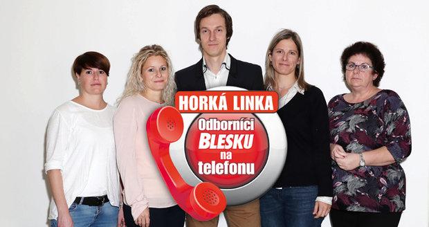 Odborníci Blesku čekají na vaše dotazy. Zleva: Mrg. Klára Jersáková, Mgr. Helena Boháčková, Ing. Petr Jiříček, Mgr. Eva Nováková, JUDr. Jana Pašková